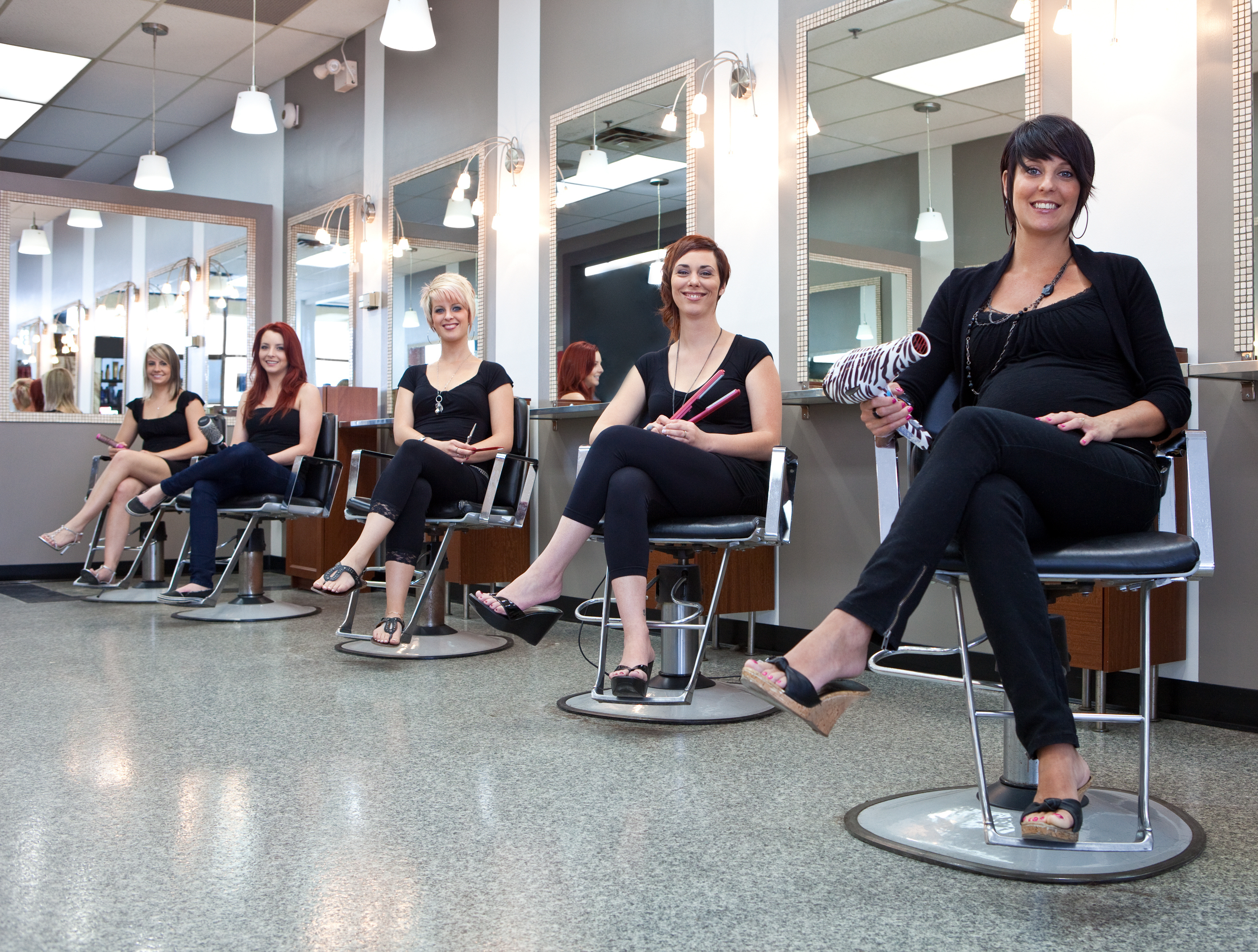 Team of hair stylists at a beauty salon urszula and - Stylistics hair salon ...
